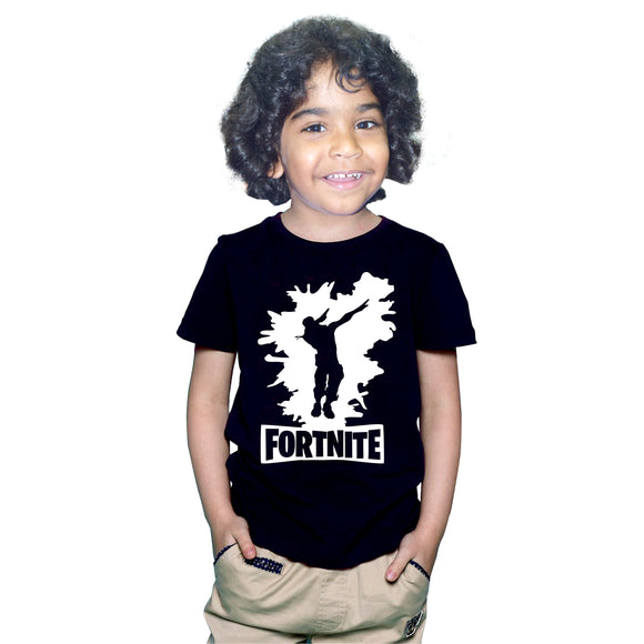 FMstyles - Fortnite Dab Dance Black Kids Tshirt - FMS620
