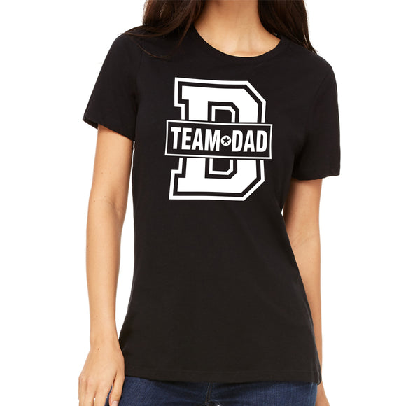 FMstyles - Team Dad Unisex Black Tshirt  - FMS129