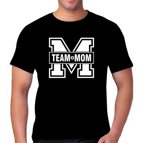 FMstyles - Team Mom Unisex Black Tshirt  - FMS129