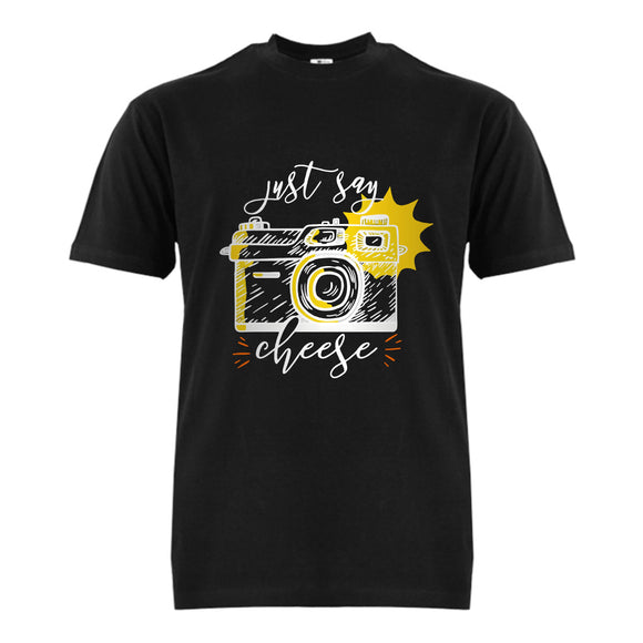 FMstyles Just Say Cheese Black Unisex Tshirt - FMS398