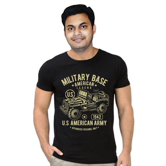 FMstyles Military Base American Legend Black Unisex Tshirt - FMS346