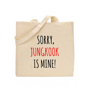 FMstyles Sorry, Jungkook is mine BTS Tote Bag - FMS289