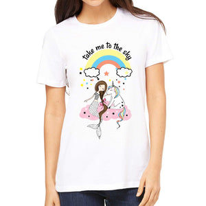 FMstyles  Take me to the sky Unicorn Unisex Tshirt - FMS280