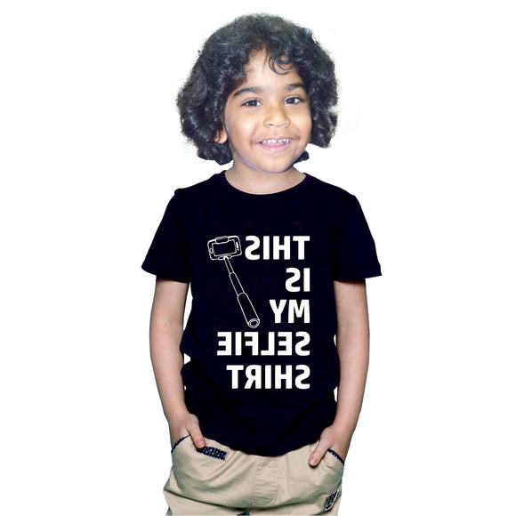 FMstyles This is my Selfie Tshirt Kids Black Unisex Tshirt FMS372