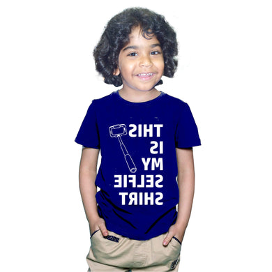 FMstyles This is my Selfie Tshirt Kids Navy Blue Unisex Tshirt FMS372