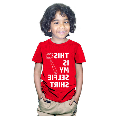 FMstyles This is my Selfie Tshirt Kids Red Unisex Tshirt FMS372