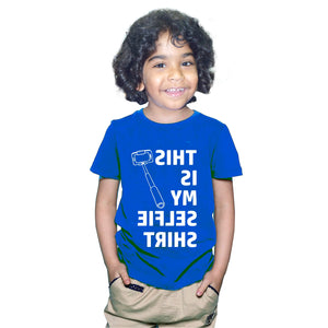FMstyles This is my Selfie Tshirt Kids Royal Blue Unisex Tshirt FMS372