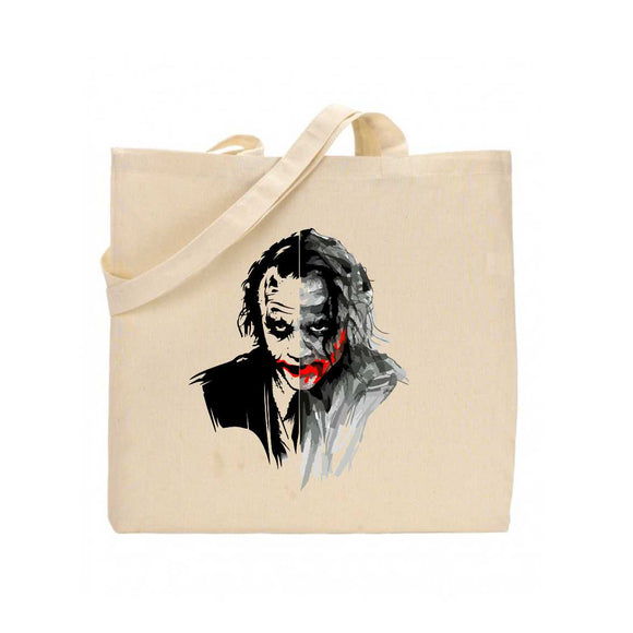 Joker Face Printed Tote Bag - A112
