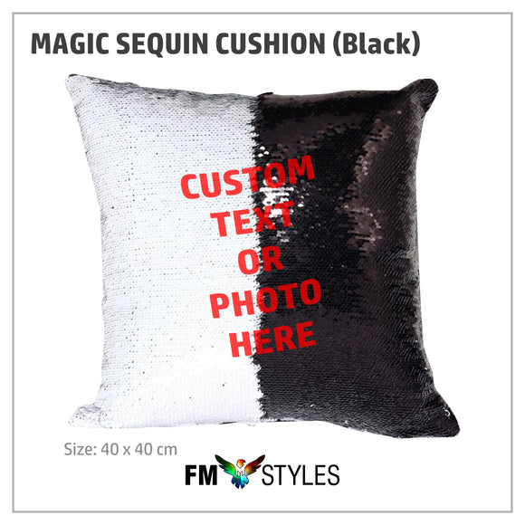 BLACK MAGIC SEQUIN CUSHION