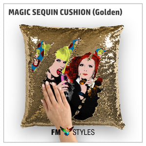 shop137 - GOLDEN MAGIC SEQUIN CUSHION - FMstyles - Cushion
