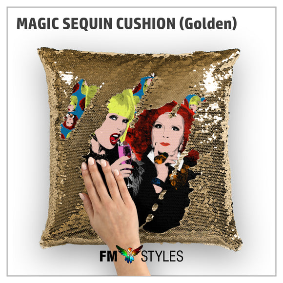 GOLDEN MAGIC SEQUIN CUSHION