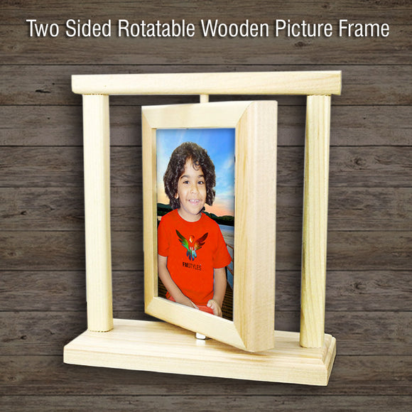 shop137 - Two Sided Rotatable Wooden Picture Frame - FMstyles - Photo Fram