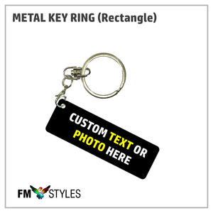 Personalized Metal Key Ring