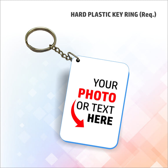 Personalized Hard Plastic Key Ring