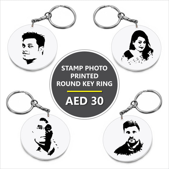Personalized Hard Plastic Stamp Photo Key Ring