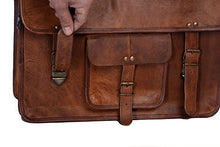 Load image into Gallery viewer, Kpl 18 Inch Vintage Mens Brown Handmade Leather Briefcase Best Laptop Messenger Bag Satchel