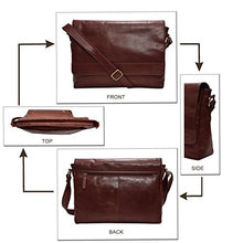 Load image into Gallery viewer, Leather Laptop Messenger Bag for men - Mens Office Briefcase Macbook Satchel Professional Side bags for men by Estalon (Cognac Wax)