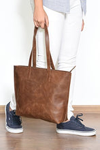 Load image into Gallery viewer, Women's Genuine Vintage Full GrainThick Buffalo Leather Tote Bag Purse