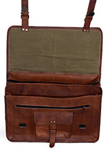Load image into Gallery viewer, KPL 18 Inch Vintage Men's Brown Handmade Leather Briefcase Best Laptop Messenger Bag Satchel