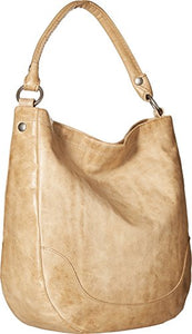 Frye Melissa Hobo Leather Handbag Corner View Sand Color