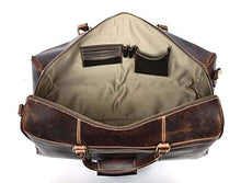 Load image into Gallery viewer, Aaron Leather 20 Inch Full Grain Leather Weekender Duffle Bag Walnut