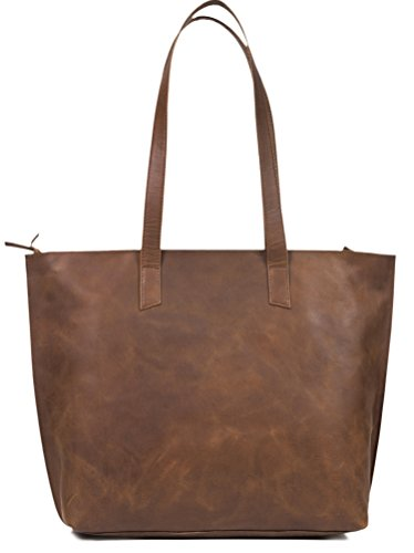 Womens Genuine Vintage Full Grainthick Buffalo Leather Tote Bag Purse Best Quality Shoulder Travel Handbag