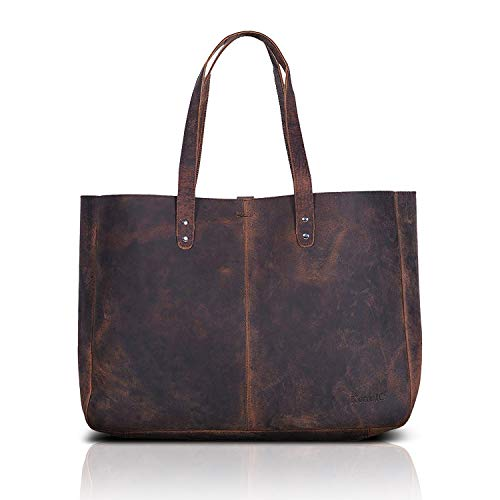 Komalc Genuine Soft Buffalo Leather Tote Bag Elegant Shopper Shoulder Bagsale 1