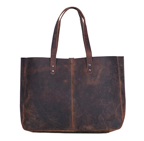 Komalc Genuine Soft Buffalo Leather Tote Bag Elegant Shopper Shoulder Bagsale