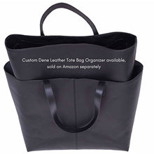 Load image into Gallery viewer, Genuine Leather Tote Bag, Large Everyday Shoulder Bag for Work, Shopping, Gym or Travel (Black)