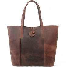 Load image into Gallery viewer, Jack Chris New Vintage Cowhide Leather Handbag Tote Shoulder Bag Purse Mc506 Brown