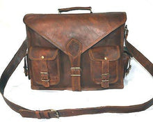 Load image into Gallery viewer, Handmadecraft Abb 18 Inch Vintage Handmade Leather Messenger Bag For Laptop Briefcase Satchel Bag