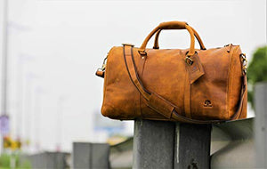 Leather Duffel Bags For Men Airplane Underseat Carry On Luggage By Rustictown