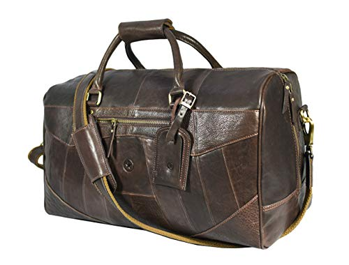 Leather Travel Duffle Bag Gym Sports Bag Airplane Luggage Carry On Bag Gift For Fathers Day By Aaron Leather Carob