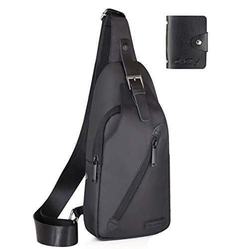 LST Sling Bag Water Resistance Crossbody Chest Backpack Outdoor Cycling Chest Shoulder Unbalance Gym Fashion Bags Daypack Sack Satchel for Men & Women