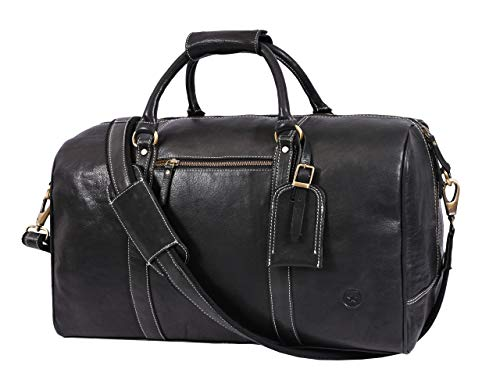 Leather Travel Duffle Bag Gym Sports Bag Airplane Luggage Carry On Bag Gift For Fathers Day By Aaron Leather Raven