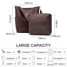 Load image into Gallery viewer, Bostanten Womens Leather Designer Handbags Tote Purses Shoulder Bucket Bags Coffee