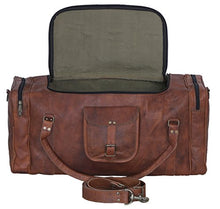 Load image into Gallery viewer, Kpl Leather Duffelbag 24 Inch U Zip Holdall Travel Sports Weekend Gym Sports