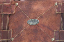 "Load image into Gallery viewer, Leather Bag Messenger Satchel Style for Laptop Distressed Bag  15"" x 11"""