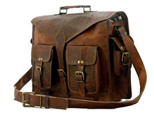 Load image into Gallery viewer, Handmade World Messenger Bag Leather Laptop Bags Computer Satchel Briefcase Unisex(15 Inch)