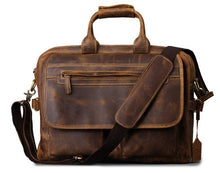 "Load image into Gallery viewer, Kattee Men's Leather Durable Briefcase, 16"" Laptop Bag"