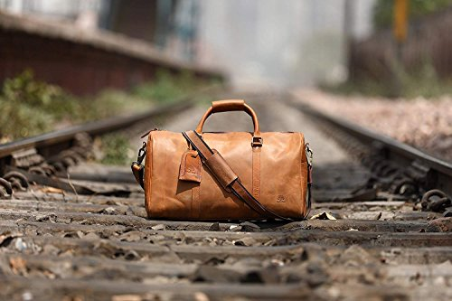 c1202e6dbbc6 ... Leather Travel Duffel Bag - Airplane Underseat Carry On Bags By  RusticTown (Brown)