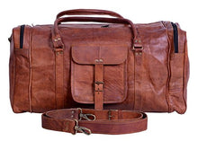 Load image into Gallery viewer, Kpl 21 Inch Vintage Leather Duffel Travel Gym Sports Overnight Weekend Duffel Bag