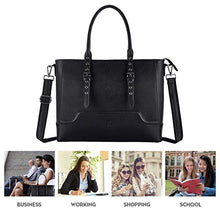 Load image into Gallery viewer, Laptop Tote Bag 15 6 17 Inch Laptop Bag For Women Durable Shoulder Bag Handbags With Thick Shockproof Compartment For Business By Easegave