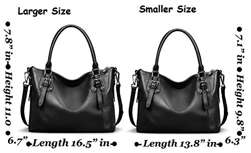 5c1a8a8ac53 ... Heshe Womens Genuinne Leather Handbags Tote Top Handle Bag Shoulder Bag  for Women Crossbody Bags Ladies ...