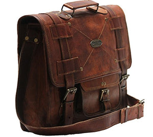 Handmade_World Leather Messenger Bags For Men Women Mens Briefcase Laptop Bag Best Computer Shoulder Satchel School Distressed Bag 11 X 15