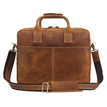 Load image into Gallery viewer, Texbo Genuine Full Grain Leather Men's 16 Inch Laptop Briefcase Messenger Bag Tote