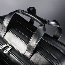 Load image into Gallery viewer, Samsonite Leather Expandable Briefcase Black