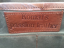 Load image into Gallery viewer, Komal's Passion Leather 24 Inch Square Duffel Travel Gym Sports Overnight Weekend Leather Bag