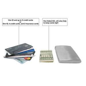 BD Wallet - Slim Wallet - Minimalist Wallet - Brushed Stainles Steel_Credits Cards and Money