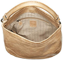 Load image into Gallery viewer, Frye Melissa Hobo Leather Handbag Inside View Sand Color